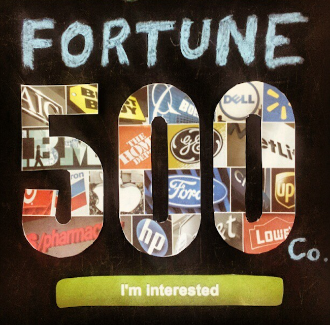 fortune 500 companies job application
