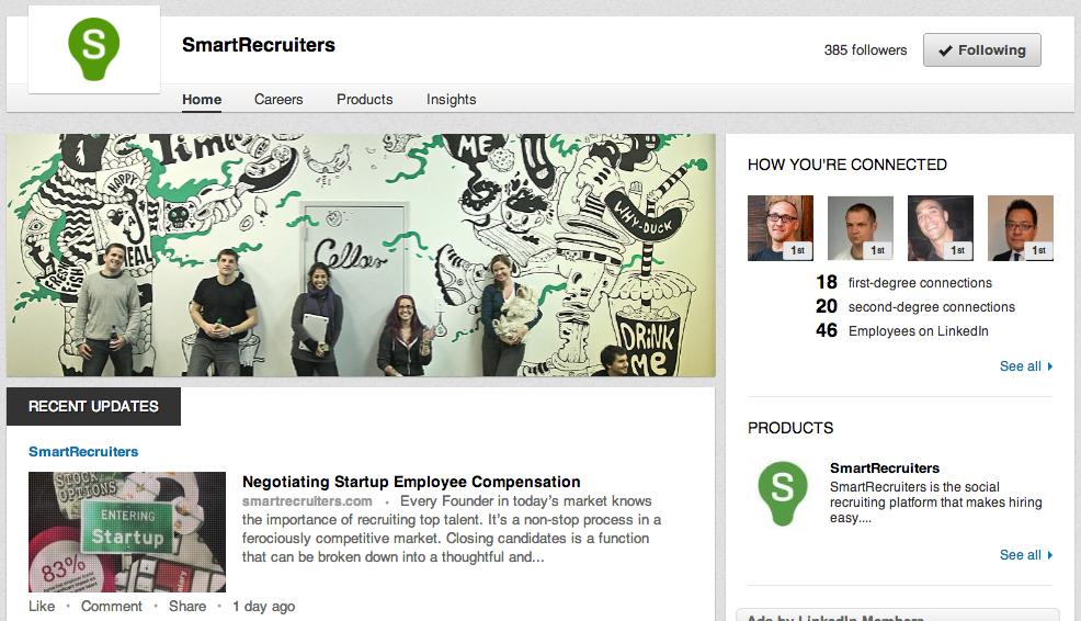 Company Linkedin page