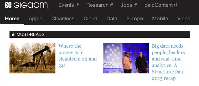 GigaOM Website