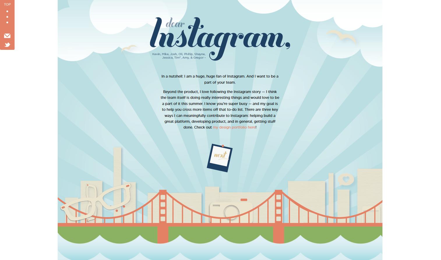 Dearinstagram Online Cover Letter  Online Cover Letter