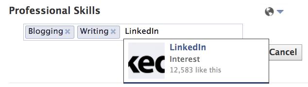 Facebook is interested in LinkedIn Skills