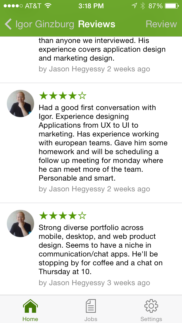 Collaborative Candidate Reviews - Mobile Hiring