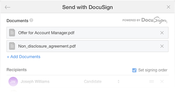 Multiple Documents with SmartRecruiters and Docusign