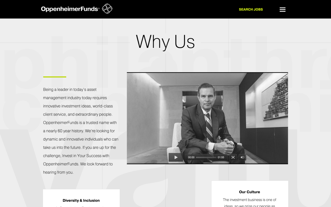 Oppenheimer Funds Career Site