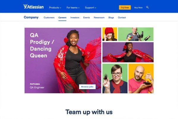 Atlassian career site