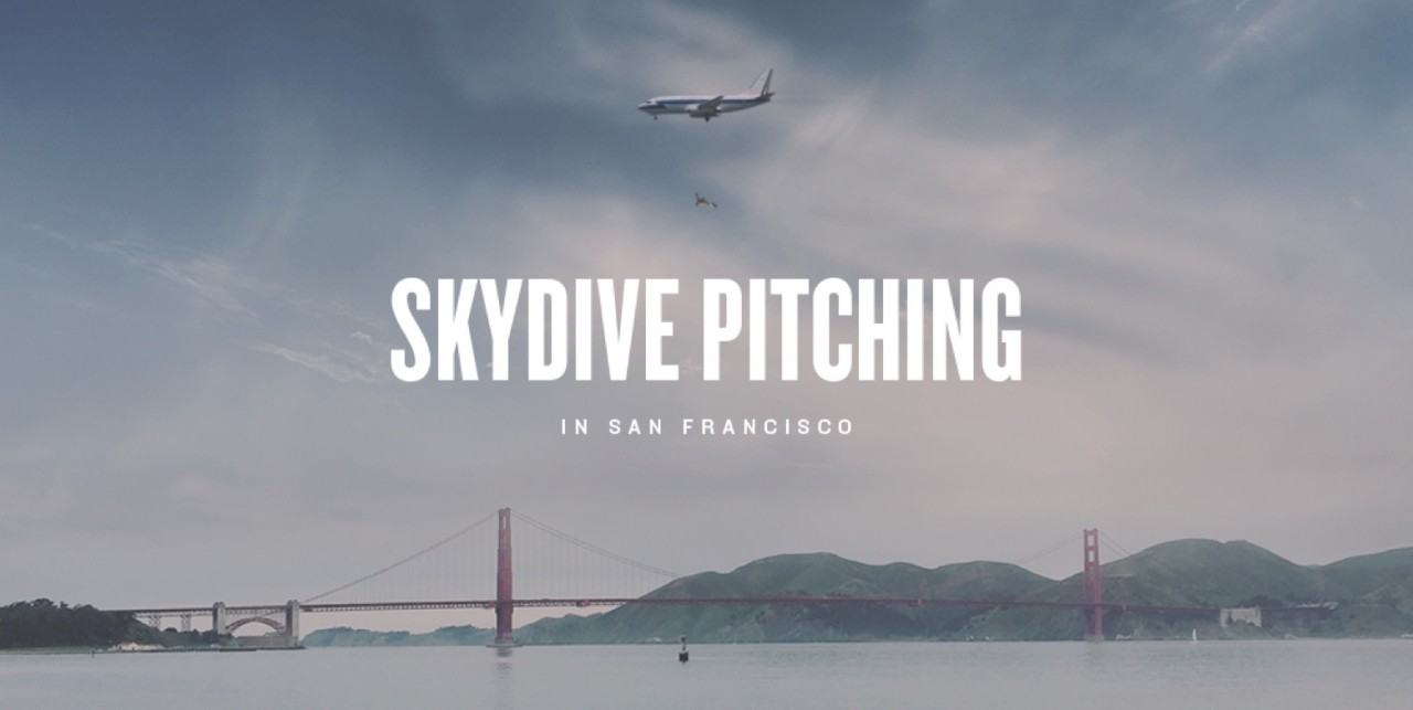 World's first Skydive Pitch Competition