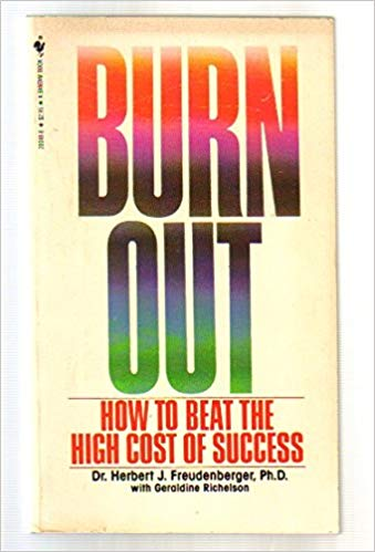 Book cover of 'Burn Out', by Dr Herbert Freudenberger.