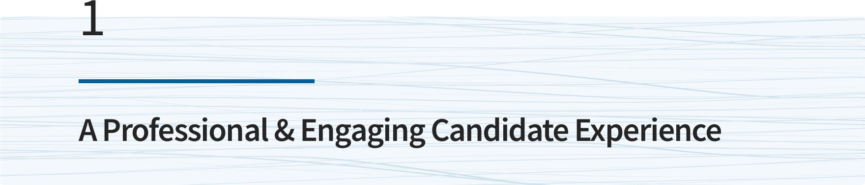 A Professional & Engaging Candidate Experience
