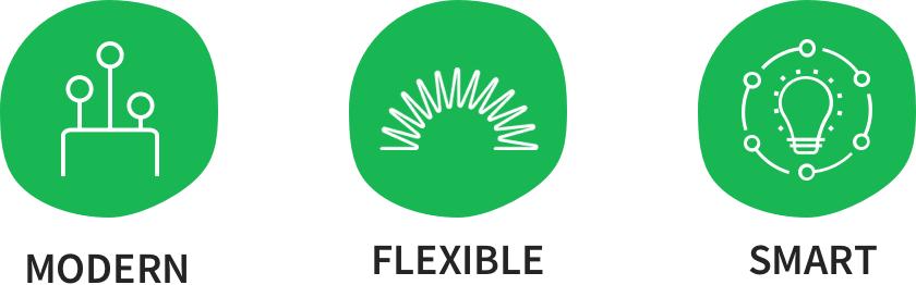Modern - Flexible - Smart
