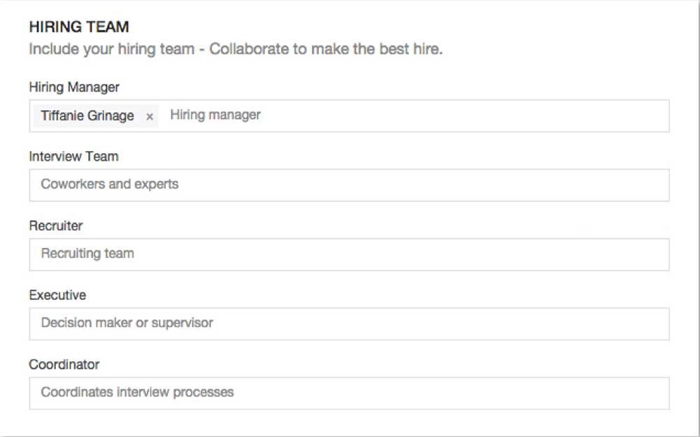 Hiring team roles