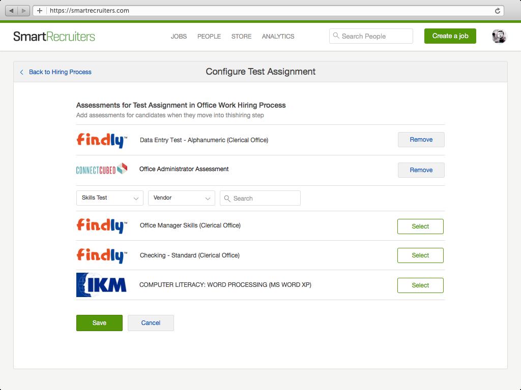 skills assessment workflows