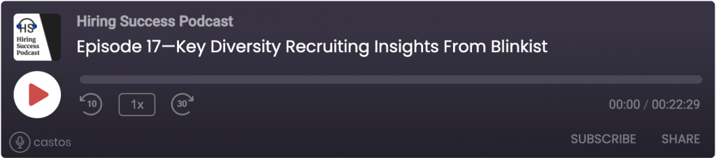 Key Diversity Recruiting Insights from Blinkist