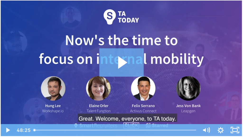The Time is Now: Internal Mobility