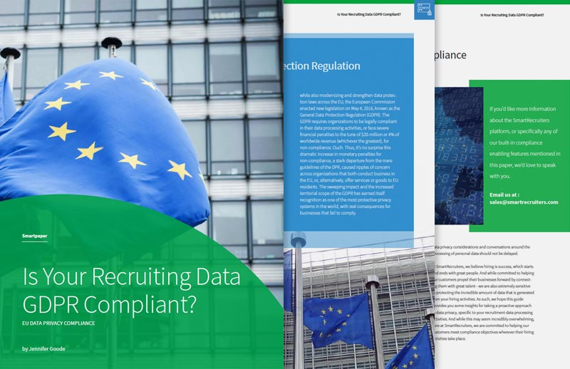 Is Your Recruiting Data GDPR Compliant?