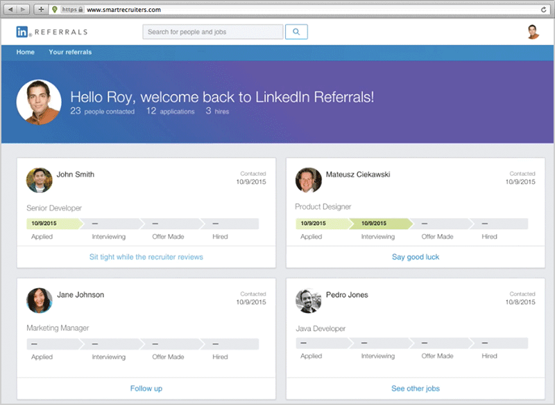 LinkedIn Referrals Integration