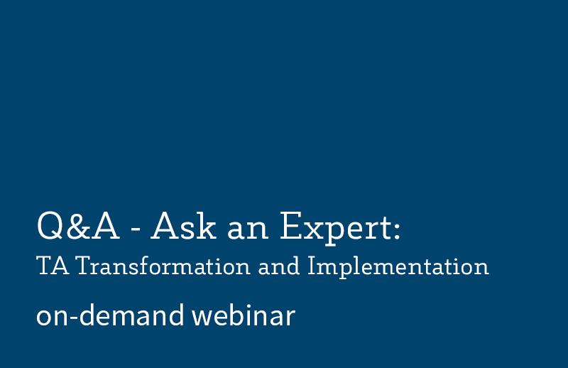 Q&A – Ask an Expert